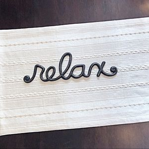 Brown/Black Metal 'relax' Wall Sign Bed/Bedroom